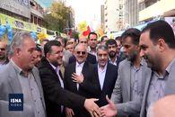 فیلم / راهپیمایی ۱۳ آبان در تهران