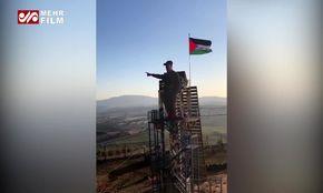 تندیس سردار سلیمانی پیش روی نتانیاهو در فلسطین اشغالی