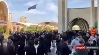 فیلم  شلوغی وحشتناک مقابل غسالخانه بهشت زهرای تهران