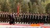 استقبال رسمی امامعلی رحمان از رئیسی در محل کاخ ریاست جمهوری تاجیکستان
